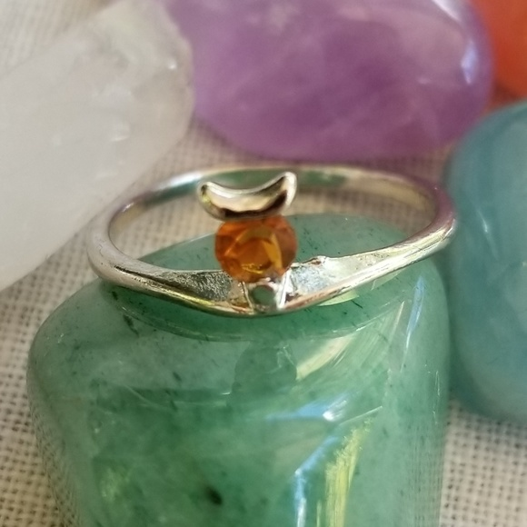 Jewelry - Silverplated topaz cubic zirconia ring 7